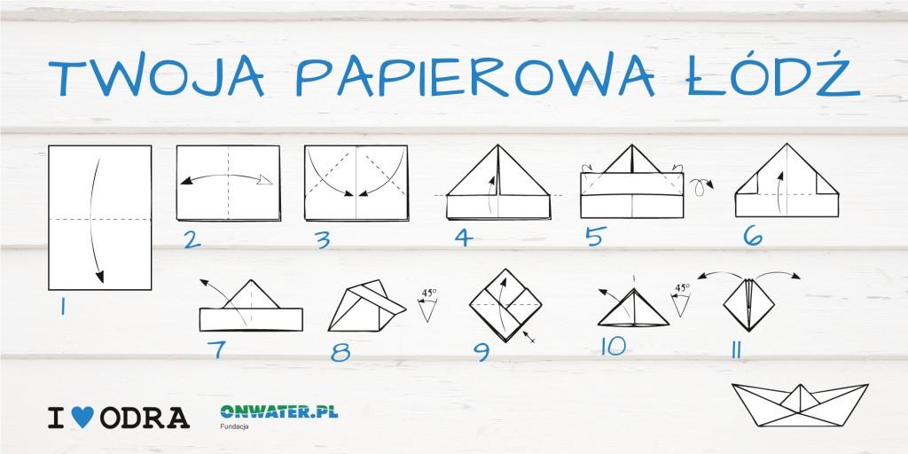 Jak zrobić papierową łódkę - instrukcja. Fundacja OnWater.pl