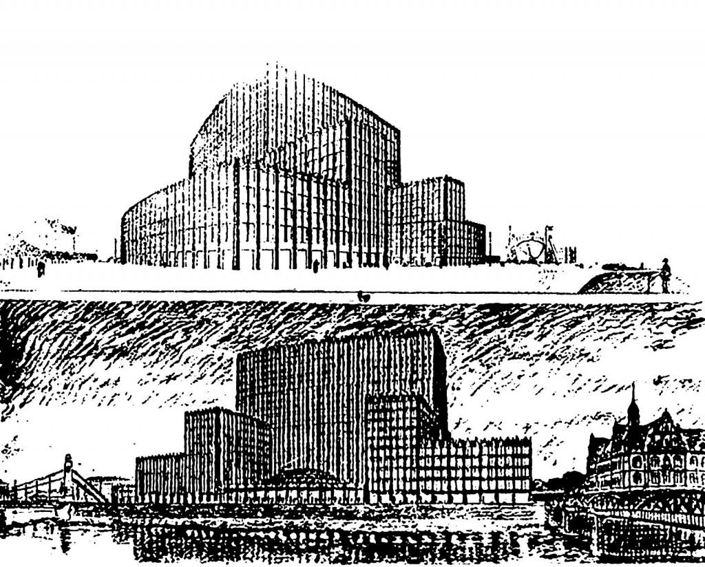 Niezrealizowany projekt budynku Maxa Berga w miejscu dzisiejszego Urzędu Wojewódzkiegorojekt budynku Maxa Berga w miejscu dzisiejszego Urzedu Wojewodzkiego