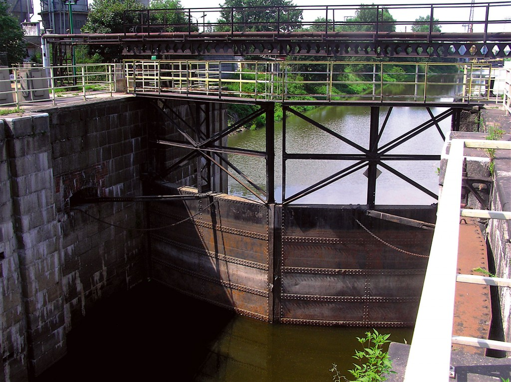 Lock gates before renovation.