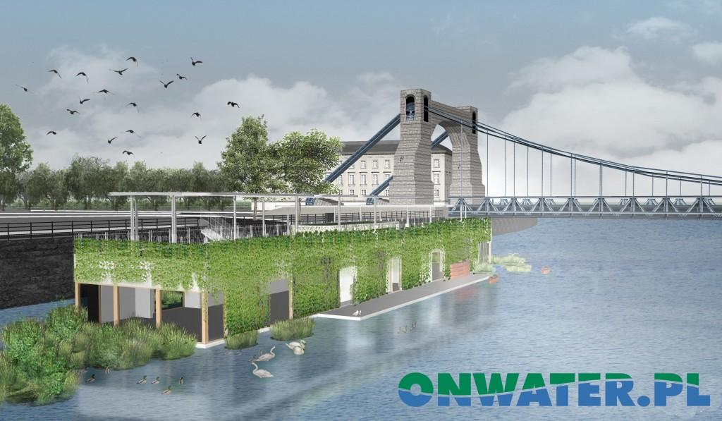 """Odra Centrum będzie pierwszym wybudowanym na wodzie ośrodkiem edukacyjno-kulturalnym, w którym realizowane będą projekty edukacyjne dotyczące szerzenia wiedzy na temat Odry, ekologii, ochrony środowiska naturalnego rzek i akwenów. W ośrodku podejmowane będą również projekty kulturalne i społeczne, mające na celu budowania tożsamość społeczności lokalnej. Działania realizowane w ramach Odra Centrum prowadzone będą pod hasłem """"Budujemy tożsamość Odrzan""""."""