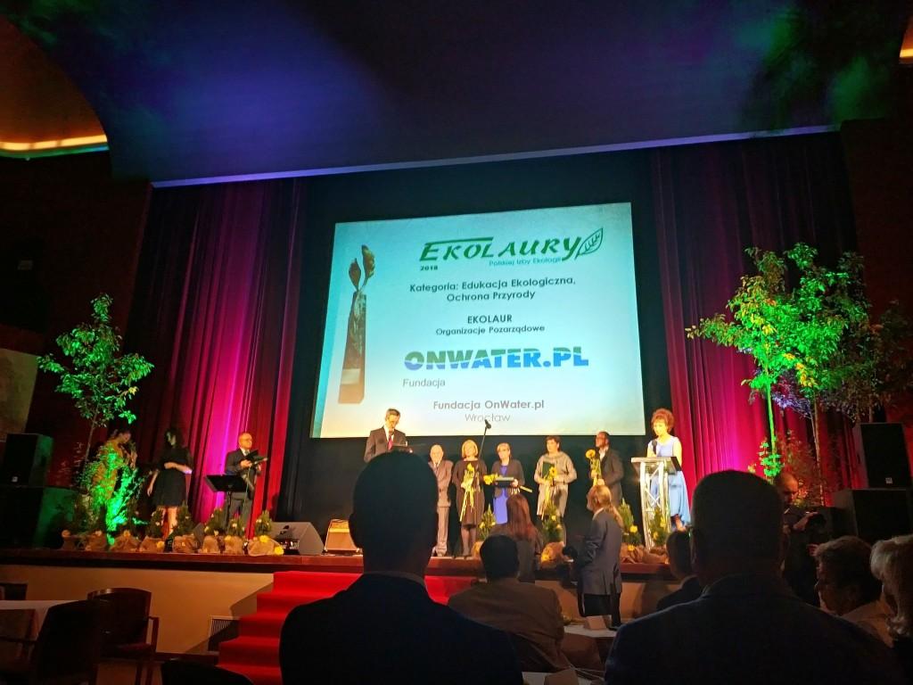 EKOLAUR 2018 - Ta nagroda jest też dla Was! Fundacja OnWater.pl