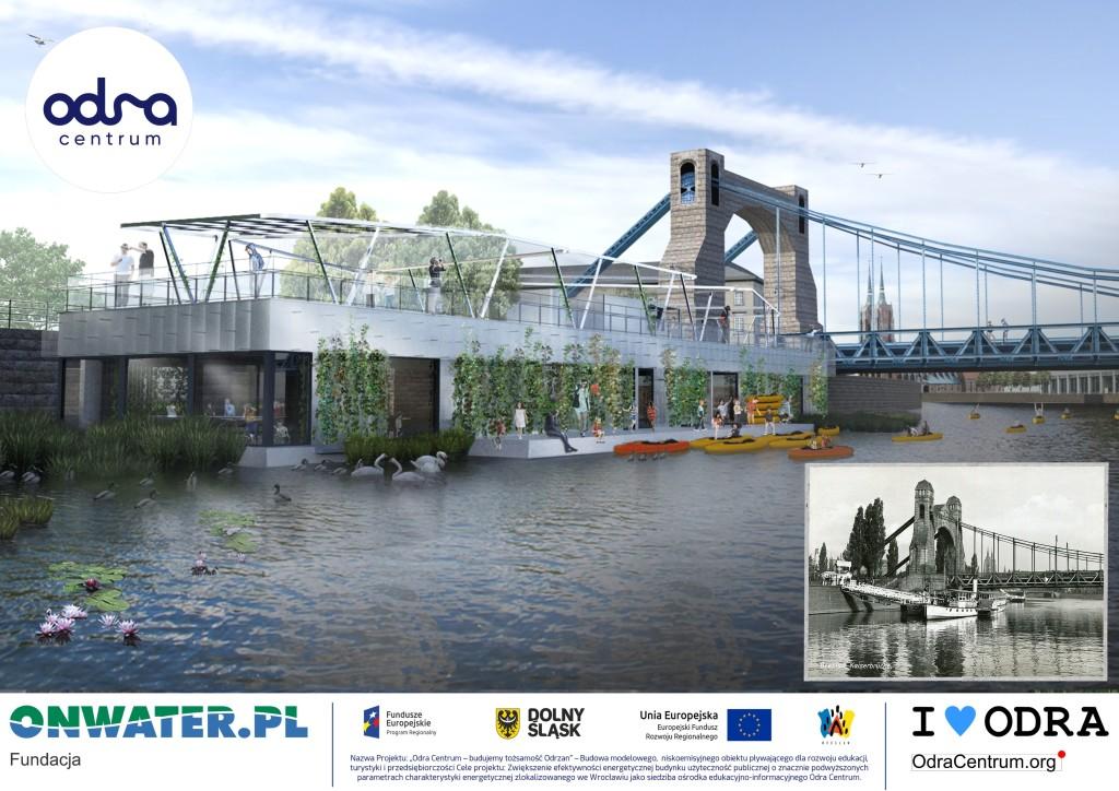 Odra Centrum jest pierwszym wybudowanym na wodzie ośrodkiem edukacyjno-kulturalnym, w którym realizowane są projekty edukacyjne dotyczące szerzenia wiedzy na temat Odry, ekologii, ochrony środowiska naturalnego rzek i akwenów. W ośrodku podejmowane są również projekty kulturalne i społeczne, mające na celu budowania tożsamość społeczności lokalnej.